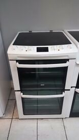 Zanussi ZCV550MWC Double Oven Ceramic Electric Cooker with 4 MONTHS WARRANTY