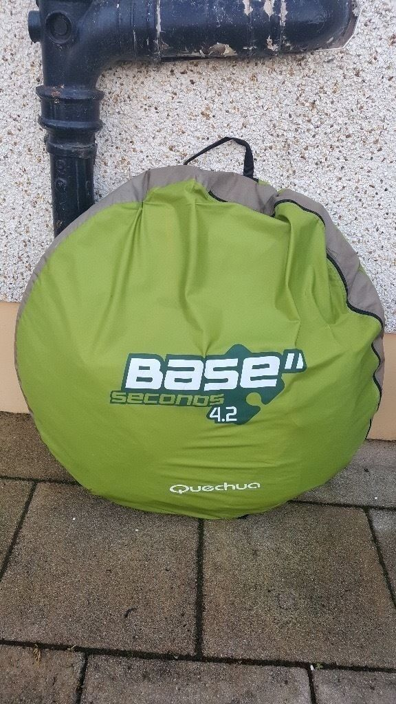 quechua base seconds 4.2 tent,brand new never usedin Baillieston, GlasgowGumtree - quechua base seconds 4.2 japanes style pop up tent with 2 separate rooms and a good size sitting area in the centre for a table,chairs etc, brand new never used bought it 9 months ago full of good intentions and ended up with a caravan lol,a chance...