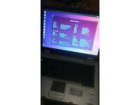 Old Toshiba Laptop - Ubuntu 17.04 OS - 1GB Ram - 1.80Ghz - 80GB HDD Works very well