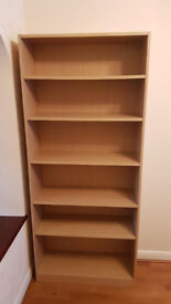 FOR SALE. 6 SHELF WIDE AND DEEP BOOKCASE. £30 O.N.O. COLLECTION ONLY