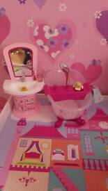 Baby born bundle. Bath, sink & unicorn