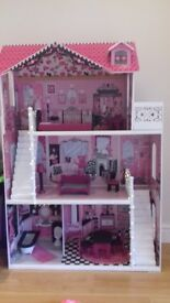 Large dolls house with lights