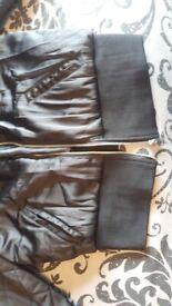 H&M cropped black bomber style jacket