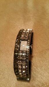 Black and White Crystal DKNY Women's watch