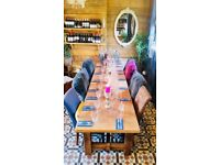 Stunning large oak dining table