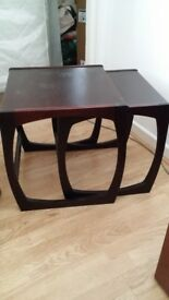 Nest of two retro side tables