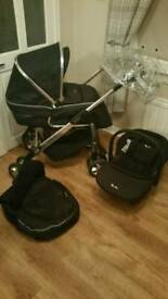 Silver cross 3 in 1 pram with car seat