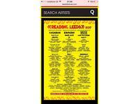 Leeds festival Sunday ticket £120