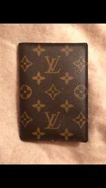 Authentic LOUIS VUITTON monogram passport case cover