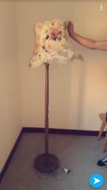 Antique Floral Floor Lamp, will look fab with a bit of restoration/tlc, Saltcoats