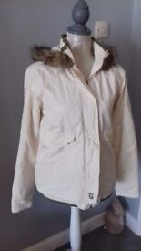 Animal Quilted Hooded Jacket with Faux Fur Trim Size 12