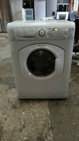 White A+ Class Hotpoint Aquarius 7 Kg Spin 1400 Washer Dryer