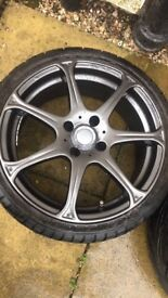 "17"" wolfrace alloys + tyres"