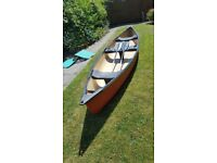 Canadian Canoe. 16 ft Coleman 2 – 3-person Canadian Canoe with 2 paddles inc