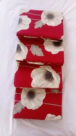 New red poppy curtains