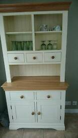 Country Cottage solid oak sideboard and matching dresser.