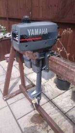 YAMAHA 2HP STROKE SHORT SHAFT OUTBOARD FOR DINGHY TENDER RIB SIB BOAT