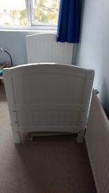 White Cotbed frame for free. No matters included.