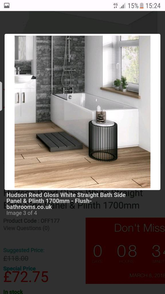 Brand new bath side and end panels