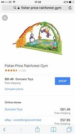 *fisher price rainforest gym*