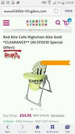 As new Red Kite height adjustable high chair