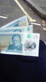 Rare £5 notes worth hundreds