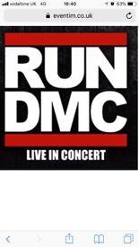2 Run DMC tickets standing below face value