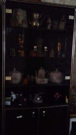 Mahogany display cabinets
