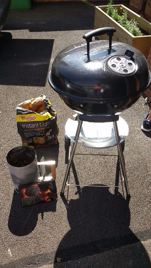 Coal Barbecue Charcoal Chimney Starter 2 Bags Of Instant Light