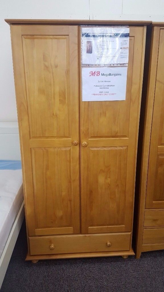 Ex-Display Julian Bowen Pickwick Combination Wardrobe **CAN DELIVER**