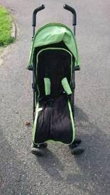 Obaby stroller with rain cover and footmuff