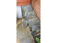 Grey Slate roof tiles, most used, some new. Collect only