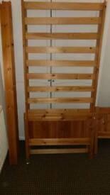 Child's pine bed single