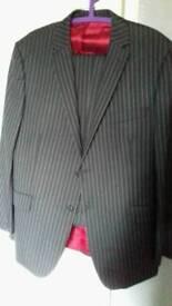 Mens lambretta large pinstripe suit