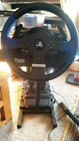 Thrustmaster T150 steering wheel / pedals and ultimate stand