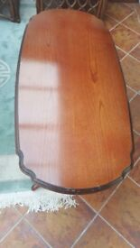 coffee table .dark wood cost £ 800 new. hardly used.solid wood. will take £ 25. .