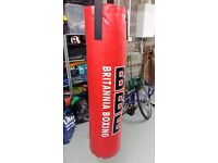 Large (Nearly New) Punchbag and Gloves for Sale