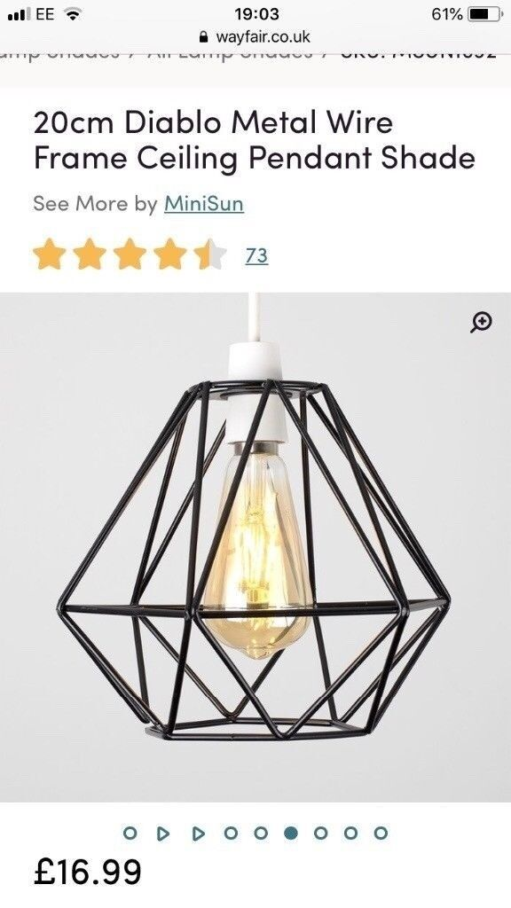Black Metal Wire Frame Lampshade - Brand new/boxed | in Wembley ...