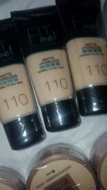Foundations brand new and sealed maybelline and rimmel also other make up for sale