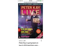 2 Peter Kay tickets Manchester Arena