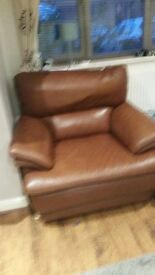 3 seater sofa, chair and footstool for sale £100 pick up only