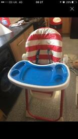 Baby high chair nautical