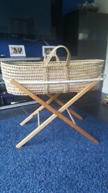 Wooden moses basket
