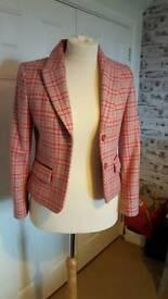 Ladies Pink Check Boden Jacket Sz 14