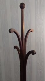 Vintage Coat and hat stand by Ancient Mariner Solid Mahogany