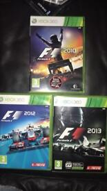 Formula 1 Xbox 360 games x 3