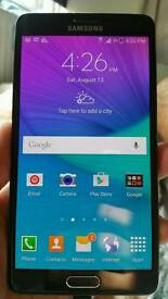 Samsung Galaxy Note 4 32gb black color unlocked good condition