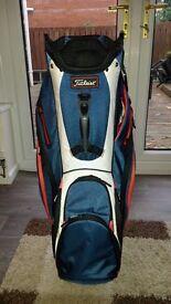 Titliest golf cart bag. 2016 model.
