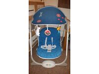 Chicco polly baby swing in near new condition