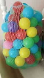 Ballpit with a bag of balls